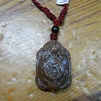 Mặt Long Quy đá Chalcedony đỏ