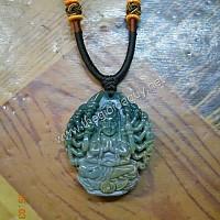 Phật bà nghìn mắt nghìn tay đá chalcedony xanh