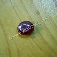 Mặt caboncho đá Ruby