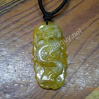 Dây chuyền chạm Rồng đá cẩm thạch vàng