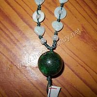 Dây chuyền hạt tròn đá cẩm thạch Sơn Thủy