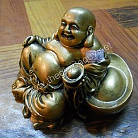 Di Lặc ngồi nâng nén vàng bột đá xi vàng