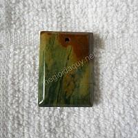 Mặt đá chalcedony thẻ bài xanh