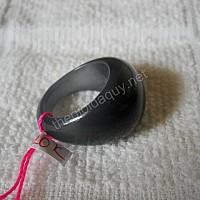 Nhẫn đá mắt mèo đen