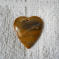 Mặt trái tim đá chalcedony cam