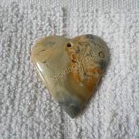 Mặt Trái tim đá chalcedony bông