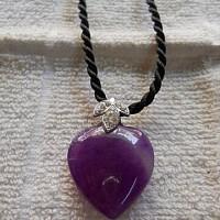 Dây chuyền Trái tim cẩm thạch tím
