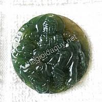 Phổ Hiền bồ tát đá mã não xanh