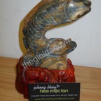 Cá Chép hoá Rồng đá chalcedony lớn