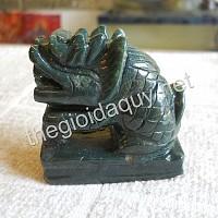 Sư Tử Singapore đá Chalcedony xanh
