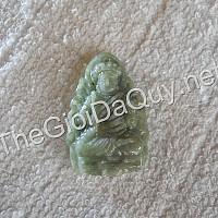 Phật bản mệnh Bất Động Minh Vương đá cẩm thạch xanh đậm