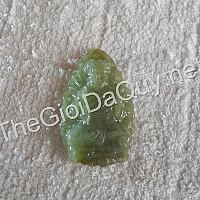 Phật bản mệnh Bất Động Minh Vương đá cẩm thạch xanh lý