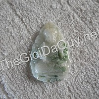 Phật bản mệnh Bất Động Minh Vương đá cẩm thạch xanh lý đậu