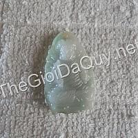 Phật bản mệnh Bất Động Minh Vương đá cẩm thạch xanh ngọc