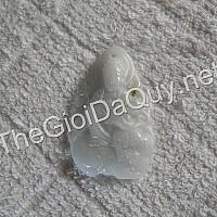 Phật bản mệnh Văn Thù đá cẩm thạch trắng