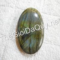 Mặt Oval đá Labradorite lớn