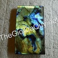 Mặt chữ nhật vân Rồng xanh đá Labradorite