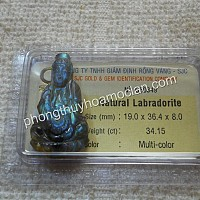 Quan Âm đá Labradorite có giám định đá quý SJC