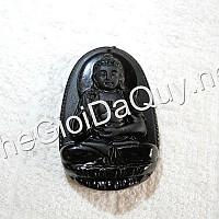 Phật bản mệnh A Di Đà đá Obsidian
