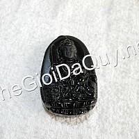 Phật bản mệnh Văn Thù đá Obsidian