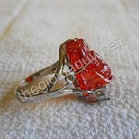 Nhẫn nữ Tỳ Hưu sapphire đỏ