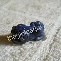 Mặt nhẫn Tỳ hưu sapphire xanh lam