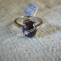 Nhẫn bạc nữ Sapphire sao