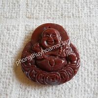 Phật Di Lặc đá Chalcedony đỏ