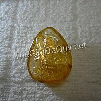 Phật bản mệnh Hư Không Tạng đá thạch anh tóc vàng