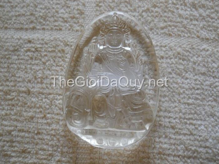 Phật bản mệnh Phổ Hiền Bồ Tát thạch anh trắng lớn