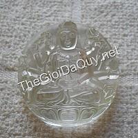 Phật bản mệnh Quan Âm Nghìn tay đá quý thạch anh trắng
