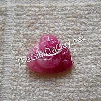 Mặt Di Lặc đá Ruby 18