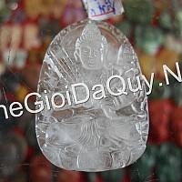 Phật bản mệnh Hư Không Tạng đá thạch anh trắng