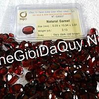 Đá Garnet đỏ mài giác