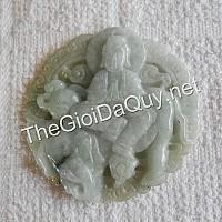 Phật bản mệnh Phổ Hiền đá cẩm thạch xanh