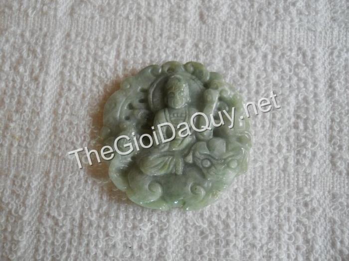 Phật bản mệnh Văn Thù đá cẩm thạch xanh