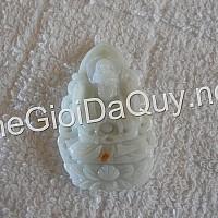 Phật bản mệnh tuổi Tý đá cẩm thạch trắng