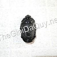 Mặt dây chuyền Phật A Di Đà đá Obsidian