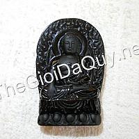 Phật bản mệnh A Di Đà đá Obsidian 61