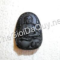 Phật bản mệnh tuổi Hợi A Di Đà đá Obsidian