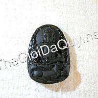 Phật bản mệnh tuổi Tuất A Di Đà đá Obsidian