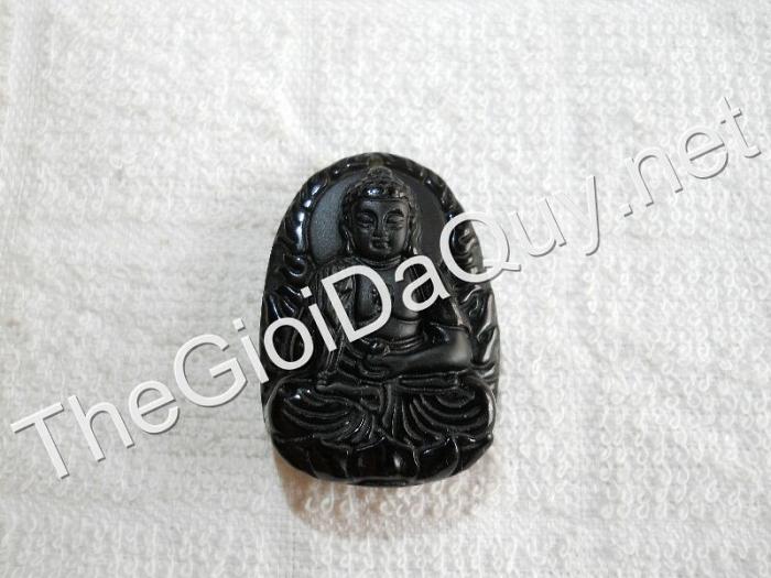 Phật bản mệnh A Di Đà nhỏ Obsidian