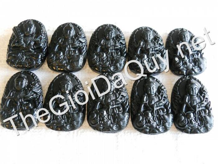 Phật bản mệnh Phổ Hiền nhỏ Obsidian