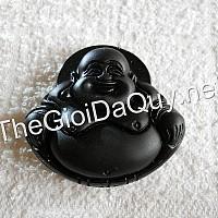 Mặt Di Lặc đá Obsidian