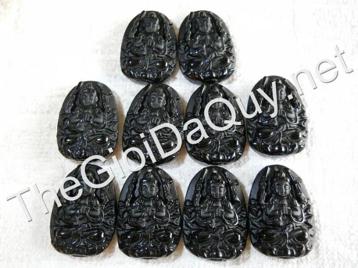Phật bản mệnh Thiên Thủ nhỏ Obsidian