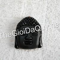 Mặt Thích Ca đá Obsidian