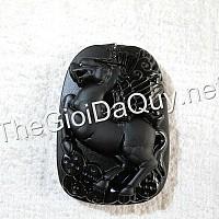 Mặt Ngựa đầu Rồng đá Obsidian