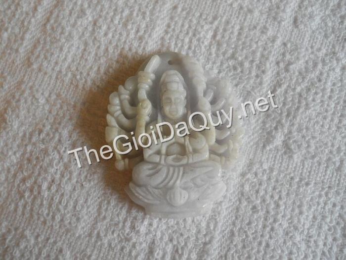 Phật bản mệnh Thiên Thủ đá cẩm thạch trắng