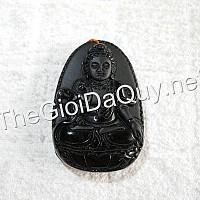 Mặt Quan Âm Ngọc Minh Châu đá Obsidian