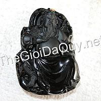 Mặt Quan Công đọc sách đá Obsidian